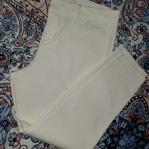 Ankle White Pixie Pants